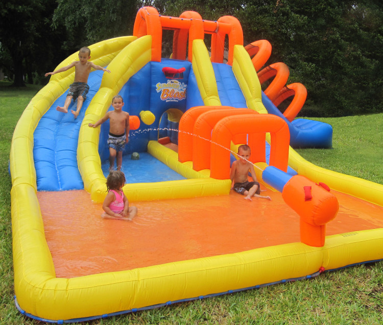 inflatable bouncer, inflatable water slide, bounce house