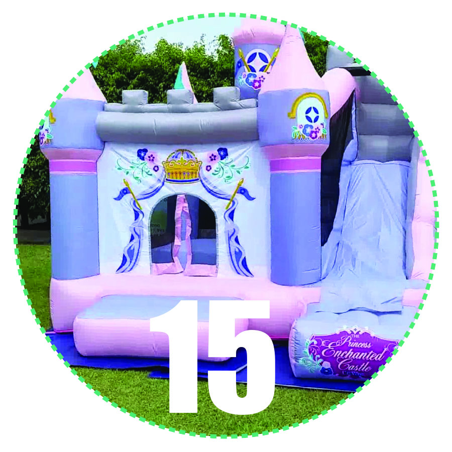 Princess Enchanted Castle with Water Slide