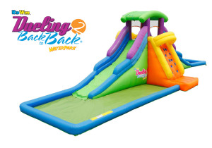 DUELING™ 2 Back to Back™ Inflatable Water Slide