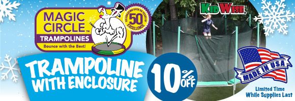 Black Friday is Starting Early- 10% off Magic Circle Trampolines with Safety Enclosure