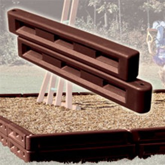 """12"""" Plastic Molded Border for Landscape or Playground Mulch"""