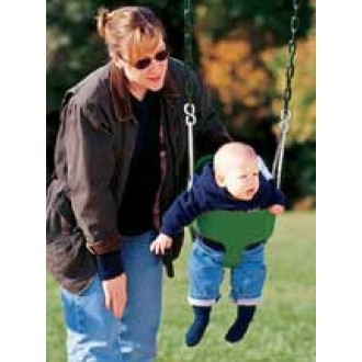 Bucket Toddler Swing With Chain - Green