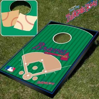 Atlanta Braves- MLB Licensed - Bean Bag Toss and Corn Hole Game