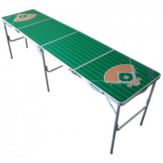 Generic Baseball Fold-able Tailgate Table with Ping Pong Net