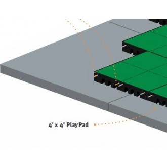 Cross Section of PlayFall Tile and PlayPad