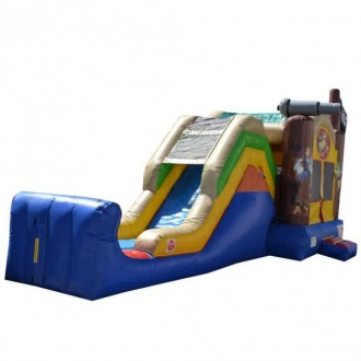 Pirate Themed 5 in 1 Super Castle Combo - Commercial Inflatable Combo