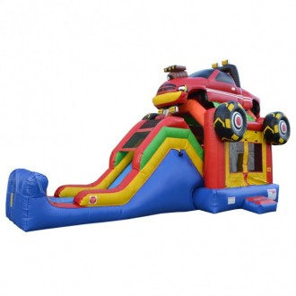 Monster Truck 5 in 1 Super Castle Combo - Commercial Inflatable Combo