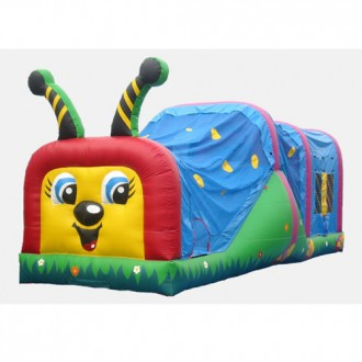 Happy Caterpillar - Commercial Wet & Dry Combo Bouncer