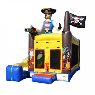 Pirate Themed - 5 x Jump & Splash Castle Combo - Commercial Inflatable Combo