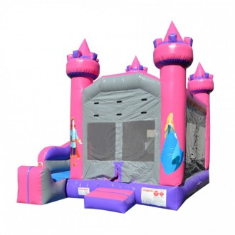 Princess Themed - 5 x Jump & Splash Castle Combo - Commercial Inflatable Combo