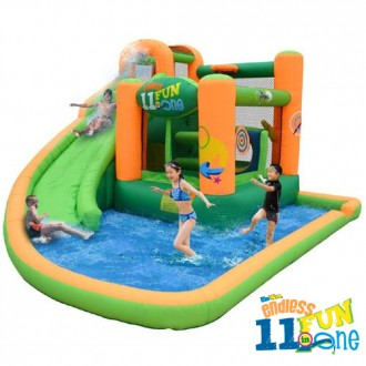 Endless Fun 11 in 1 Inflatable Bounce House and Water Slide