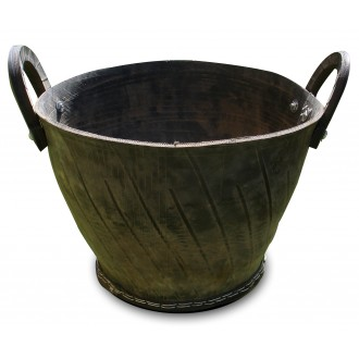 Recycled Rubber Pot - Wide Basin