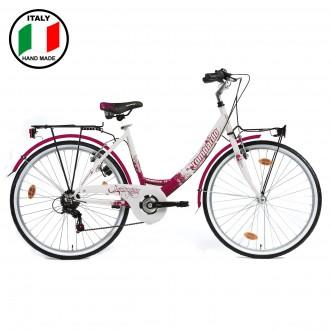 Lombardo Charbonnel 26 inch Bike- Fuchsia and White