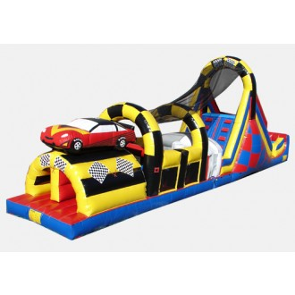 Race Car Obstacle Challenge - Commercial Inflatable Obstacle Course