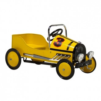 Morgan Cycle Retro Style Steel Pedal Car YELLOW