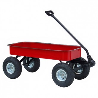 Morgan Cycle Classic Junior Size Steel Wagon in RED