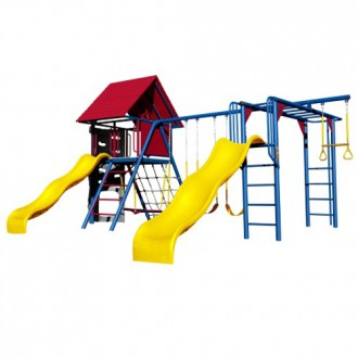 Lifetime Double Slide Deluxe Playset (Primary Colors)