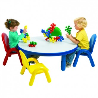 Angeles 174 Baseline 174 Toddler Round Table And 4 Chair Set
