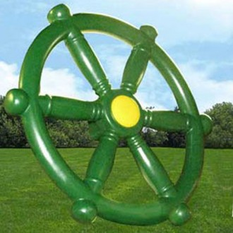 Ships Wheel - Play Set Accessory - Green