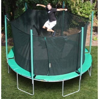 13'6 Round Magic Circle Trampoline with Safety Cage