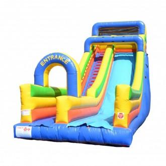 The 24' Screamer Single Lane Slide provides huge amounts of fun.