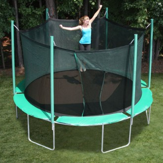 SportsTramp Extreme 13.5' Round Trampoline with Detachable Cage