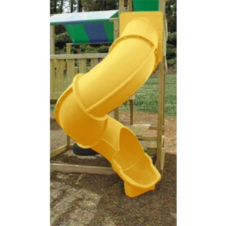 Super Tube Slide for 7 Ft Deck Height - Yellow