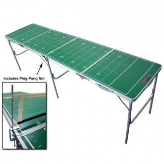 Generic Football Fold-able Tailgate Table with Ping Pong Net