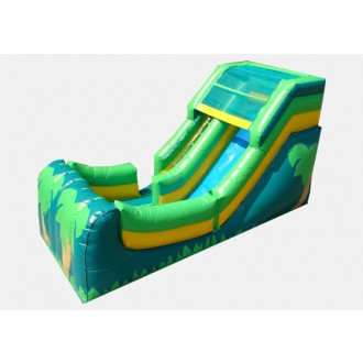 12' Tropical Theme Wet & Dry Slide - Commercial Inflatable Slide