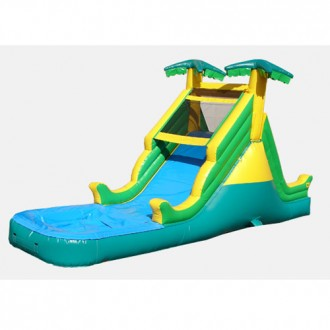 14' Tropical Themed Waterslide - Commercial Inflatable