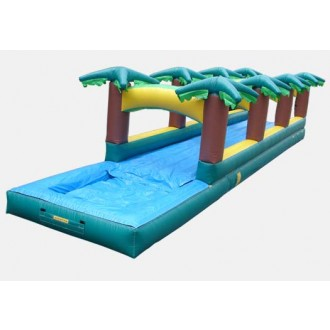 Hawaiian Slip and Slide Single Lane with Pool - Commercial Inflatable Waterslide