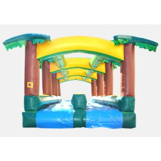 Hawaiian Slip and Slide Single Lane - Commercial Inflatable Waterslide