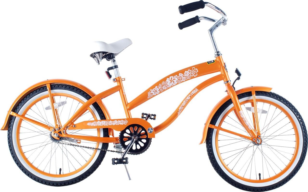 S 20 Inch Extended Frame Beach Cruiser Orange