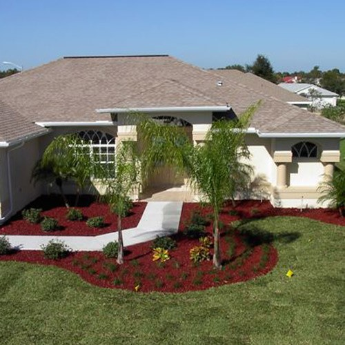 Yardwise rubber lanscape mulch cedar red