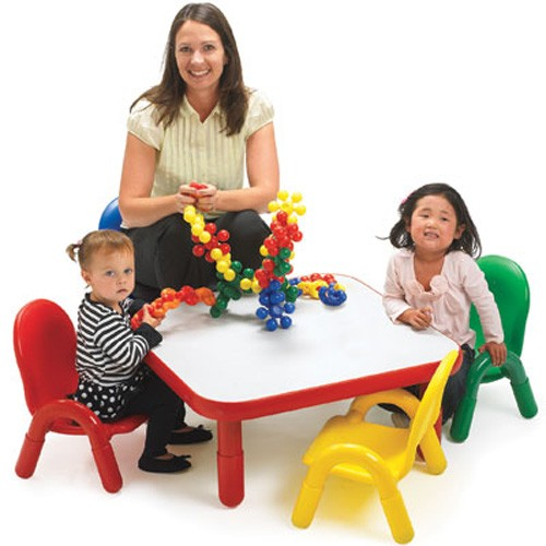 Angeles Baseline Toddler Square Table and 4 Chair Set