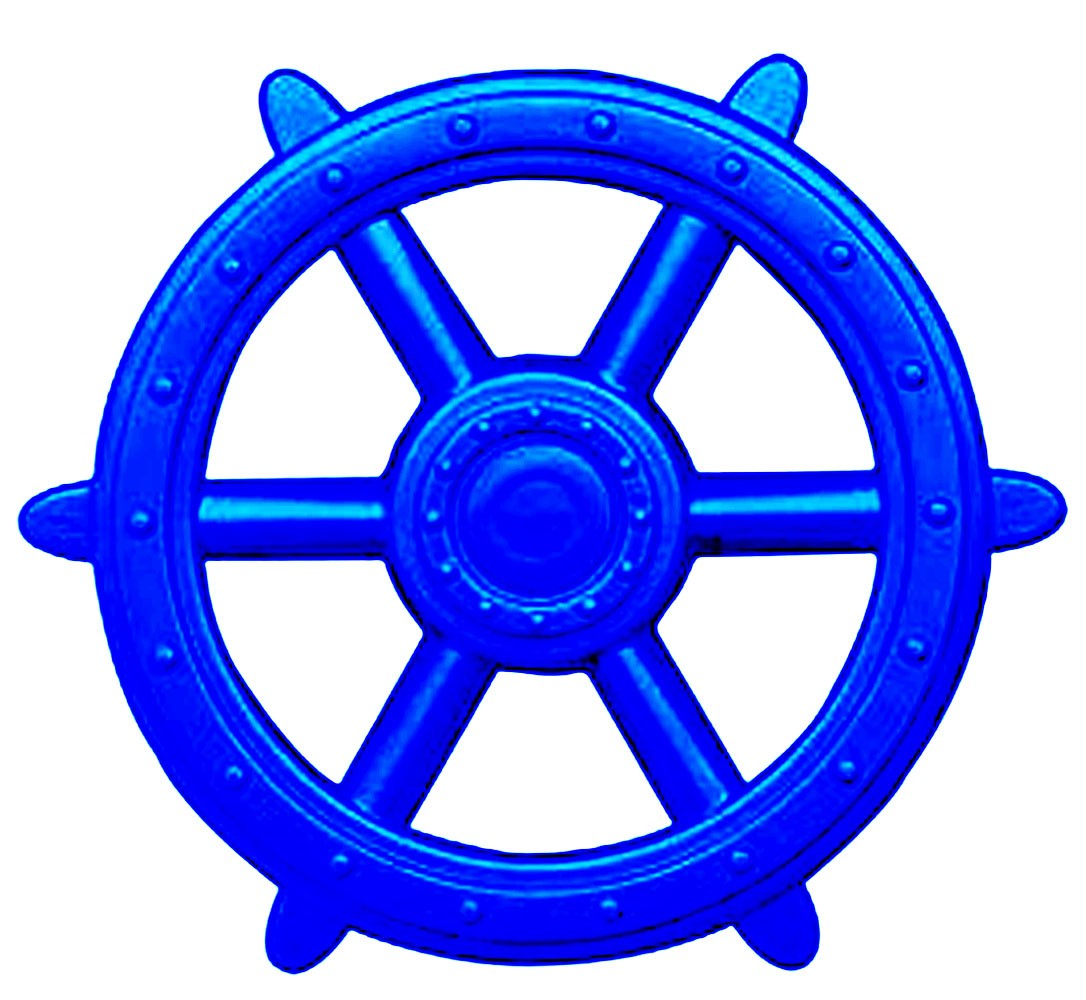Blue Ship Wheel Playset Accessory