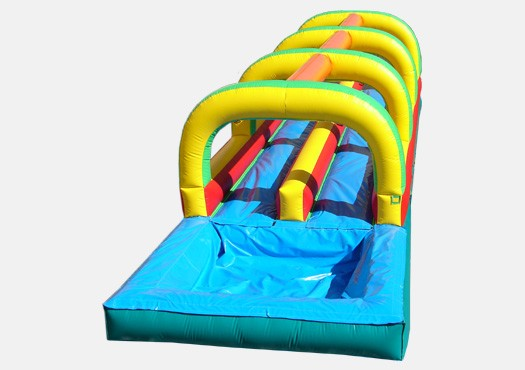 Slip And Slide Double Lane W Pool Inflatable Waterslide