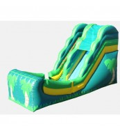 16' Wet and Dry Slide - Tropical Themed Commercial Inflatable