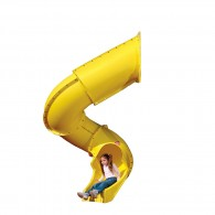 Turbo Tube Slide for 7 Ft Deck Height - Yellow