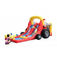 KidWise Formula One Bounce House with Double Slides - Wet or Dry