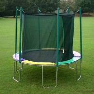12' Round Magic Circle Trampoline with Integrated Safety Cage