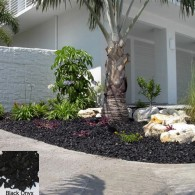 YardWise Recycled Rubber Landscape Mulch Black