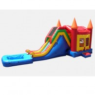 Jump and Slide 2 with Pool- Commercial Combo Bouncer