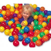 100 Pack of Multi-colored PVC Balls