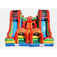 Dual Lap Obstacle Challenge - Commercial Inflatable Obstacle Course