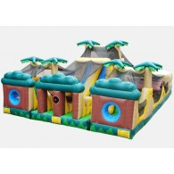 Tropical Themed 3 Piece Obstacle Course - Commercial Inflatable Obstacle Course