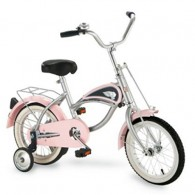 Morgan Cycle 14 Inch Cruiser Bicycle with Training Wheels PINK