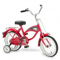 "Morgan Cycle 14"" Cruiser Bicycle with Training Wheels RED"