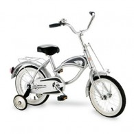 Morgan Cycle 14 Inch Cruiser Bicycle with Training Wheels SILVER