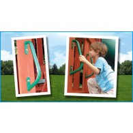 2pk Green Deluxe Hand Grips- PlaySet Accessories